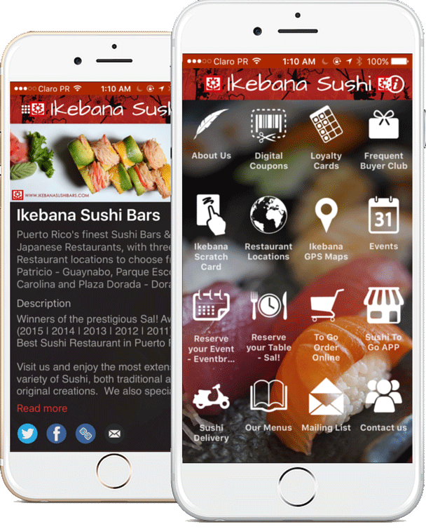 Ikebana Sushi Bars Puerto Rico |Loyalty Apps