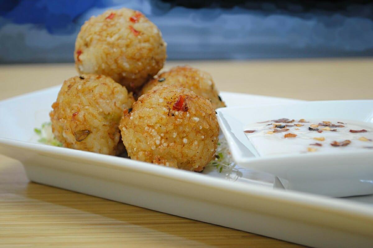 Crab Pearl Rice Balls