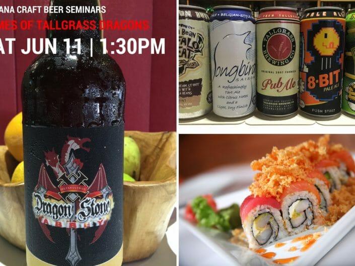 Ikebana Sushi Bar Craft Beer Seminar Sushi pairing Dragon Stone Abbey TallGrass Brewery Dorado Carolina Guaynabo Puerto Rico