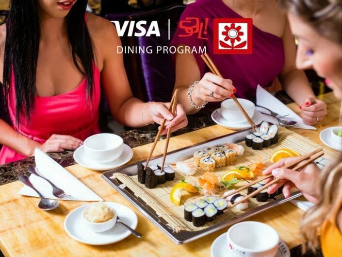 Ikebana Sushi Bar 2017 Visa Sal! Dining Program Dorado Carolina Guaynabo Puerto Rico Loyalty Rewards