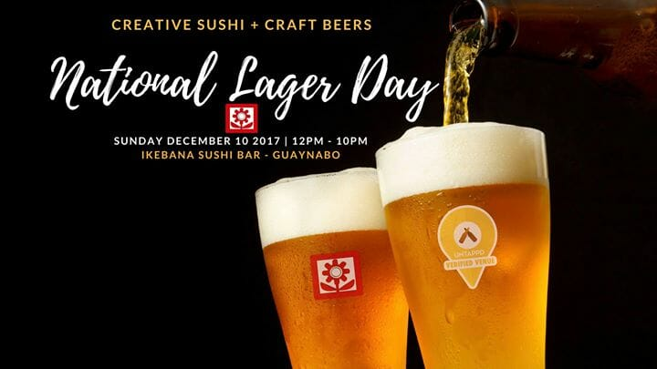 Ikebana Sushi Bars National Lager Beer Day Guaynabo Puerto Rico