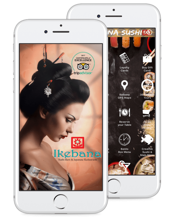 Ikebana Sushi Loyalty Rewards Apps Iphone Android